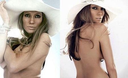 Un truco para estar siempre perfecta: el Photoshop. Descubre cómo es Jennifer López desnuda sin retoques
