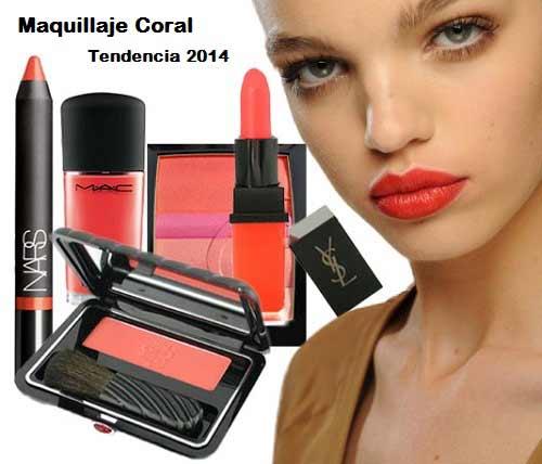 Maquillaje coral para la primavera-verano